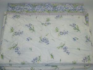 Vintage SHERIDAN Australia Twin Floral Flat Sheet Fabric Bedding Linen Cotton