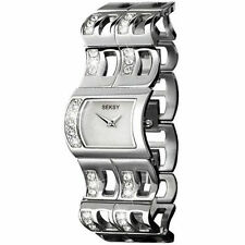 Silver Plated Strap Square Wristwatches with 12-Hour Dial