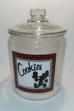 NEW NOS Vintage Anchor Hocking Mickey Mouse Glass Canister Cookie Jar