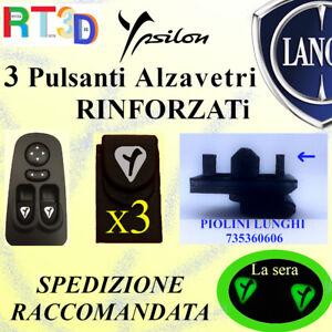 3 Pulsanti pulsantiera LANCIA Y 735360606 alzavetri finestrini LUCE pulsante