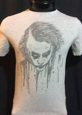 Batman Heath Ledger The Joker Gray T-Shirt Medium