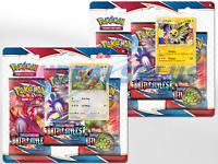 SET OF 2 POKEMON BATTLE STYLES 3-PACK BLISTER SET - BOTH PROMOS - SEALED