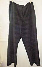 Women's Investments pants slacks black/white pin stripe stretch size 14S