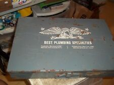 Vintage Best Plumbing Specialties Parts Fittings Storage Box Case 185x12x325