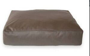 Faux Leather Pet Dog Bed - Extra Large - brown removable inner size 36x36x9 inch