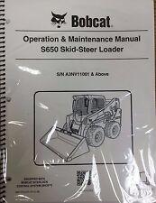 Bobcat S650 Skid Steer Operation & Maintenance Manual Operator/Owners #6987167