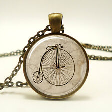 Penny Farthing Bicycle Necklace, Vintage Style Bike Pendant (0512B1IN)