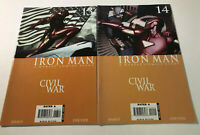 Iron Man #13 14 (Dec 2006, Marvel) Civil War Tie In Captain America Spider-Man