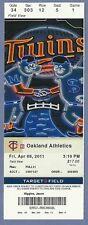 Justin Morneau 1000th hit April 8 2011 Full Season Ticket Oakland Twins 4-8-11