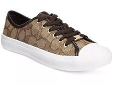 New COACH Womens 5.5 M Empire Outline Sig C/Nap Khaki Chestnut Shoes Sneakers