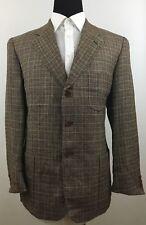 Cavelli Multi-Color 3-Button Sport Coat Jacket 40R Linen Wool Cotton Blend 09