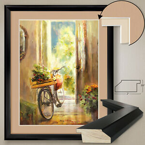 """32W""""x40H"""": AFTERNOON RIDE by ROBERTO LOMBARDI, DOUBLE MATTE, GLASS and FRAME"""