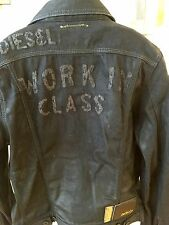 Diesel Denim Waxed Jacket, Trucker Jeans Style, Size L, MSRP $458.00
