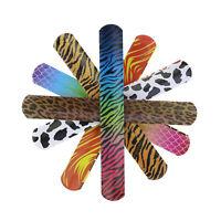 25Pcs Assorted Animal Heart Print Slap Bracelets Wrist Strap Kids Party Favors