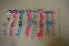 LOT OF 8 BIZU BEADS BRACELETS by Umagine HELLO KITTY, CATS, HORSE, MONKEY + TOOL