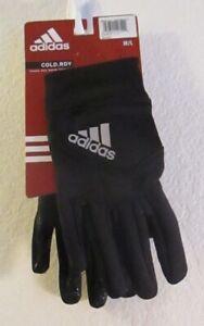 NWT Adidas Mens Shield 3 Running Gloves M/L Black MSRP$25