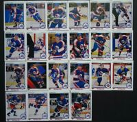 1990-91 Upper Deck UD Winnipeg Jets Team Set of 22 Hockey Cards