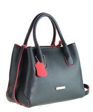 Idigao Women Fashion PU Leather Shoulder Bag Handle Handbag Tote Bag Purse BLACK