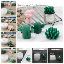 DIY Craft Plaster Silicone Molds Cacti Succulent Candle Mold Moulds Soap Molds
