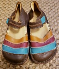 SPRING STEP Shoes Size 39 8.5 Bumblebee Brown Mary Jane Leather Flat Multicolor