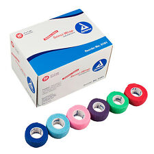 "Full CASE 30 ROLLS 1"" VETRAP Assorted VETWRAP BANDAGES RainBow Colors"