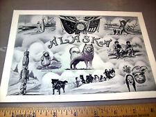 Alaska Territory Large Photogram Postcard 8x6 inches, great old alaska gift!