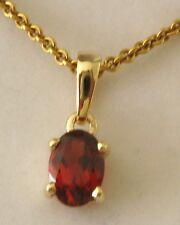 GENUINE  9K  9ct  SOLID  Gold  JANUARY  BIRTHSTONE  GARNET  Pendant