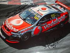 Lowndes & Priaulx SIGNED 12x8, Vodafone Holden ,Australian V8s Surfers Paradise