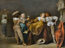 A Party of Merrymakers by Pieter Jansz Quast (Dutch) Old Masters 13x17 Art Print