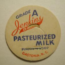Jenkins Dairy (Gastonia, North Carolina) Milk Bottle Cap