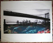 ORIGINAL Lithograph MICHAEL KNIGIN East River NYC EXHIBITED MODERN CONTEMPORARY