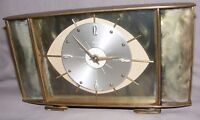 VINTAGE METAMEC PLASTIC BAKELITE AND BRASS EYE EFFECT MANTEL CLOCK REPAIRS SPARE