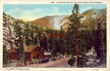 alt. 11,425 ft GLENCOVE INN ON THE PIKES PEAK AUTO HIGHWAY COLORADO SPRINGS 1935
