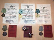 PW 1st SEVASTOPOL ODESSA RED STAR BRAVERY WW2 ARMY AWARDS ORDER SET GROUP RUSSIA