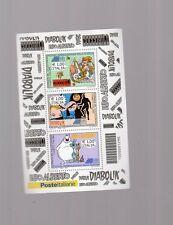 foglietto francobolli festival filatelia - lupo alberto-diabolik - 3 valori 2009