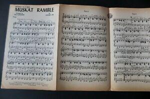 KID ORY VAN ALEXANDER MUSKRAT RAMBLE PIANO CONDUCTOR SHEET MUSIC (1944) JAZZ USA