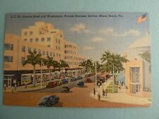Woolworth's Dime Store MIAMI BEACH FLORIDA FL Vintage LINEN Postcard