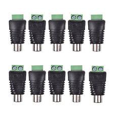 10 Pcs UTP Cat5/Cat6 Cable to AV RCA Female Jack Screw Terminal Video Connector
