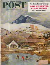 1958 Saturday Evening Post December 13 - Quemoy; Predicta;Salt Lake RR;S Varnell
