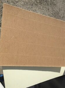 10 Sheets Natural Corrugated Card cream reverse 12x12 305x305mm s310 gsm
