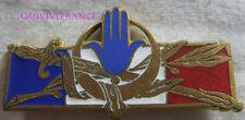 IN12086 - INSIGNE Forces Françaises en Afrique du Nord, dos lisse gravé, Déposé