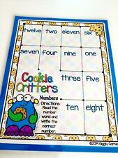 Cookie Critters Numbers Dry Erase Laminated Full Sheet Mat Homeschool