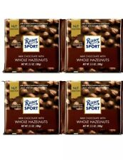 4 Packs Ritter Sport Milk Chocolate with Whole Hazelnuts 3.5 OZ/Pack