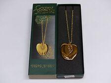 Georg Jensen Ornament an Kette GOLD 2001 Apfel 3405050 OVP