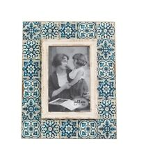 Sass & Belle Mediterranean Blue Mosaic Photo Frame Memories Homeware