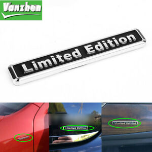 Universal 3D Metal LIMITED EDITION Logo Car Sticker Badge Body/Rear Trunk Emblem