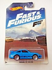 Hot Wheels Fast & Furious Porsche 911 GT3 RS - blue