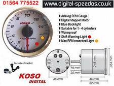Koso D48 Rev Rpm Motocicleta Calibre 1, 2, 3 o 4 cilindros, 4 tiempos, 2 tiempos, W