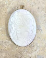 """CAMEO 14K YELLOW GOLD CONCH """"FLORA"""" PIN AND PENDANT HSN $599.00 SOLD OUT"""