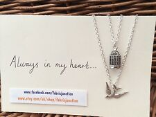 One Direction 1D Friendship Set Charm Necklaces Bird Cage Larry Stylinson AIMH